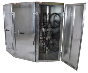 Bike locker storage