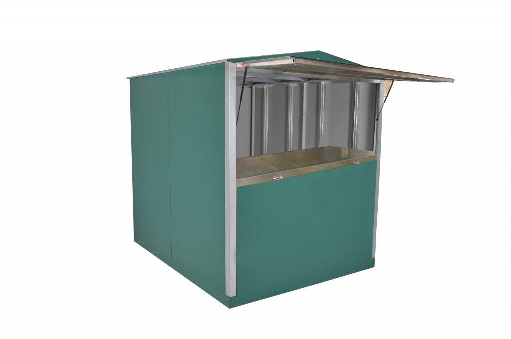 Canopy door service window